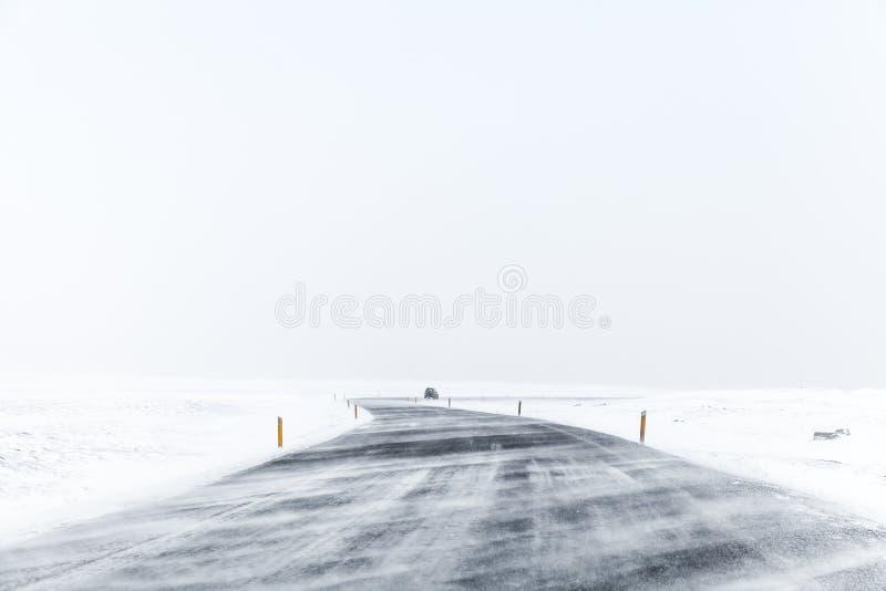 Paisagem vazia do inverno islândia fotografia de stock