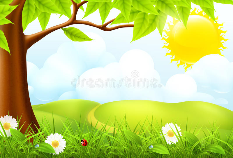 Paisagem verde ilustração royalty free