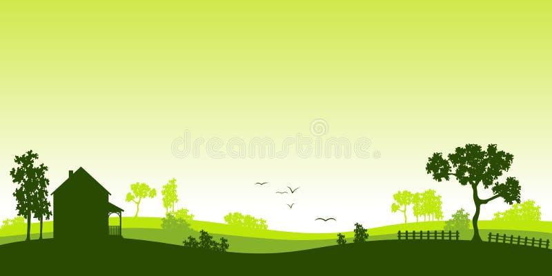 Paisagem verde ilustração stock