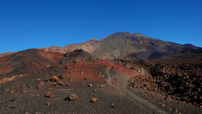 Paisagem vulcânica com lava Aa na caminhada uma de Montana Samara do mais incomum estrangeiro-como o ambiente encontrado no parqu fotografia de stock royalty free
