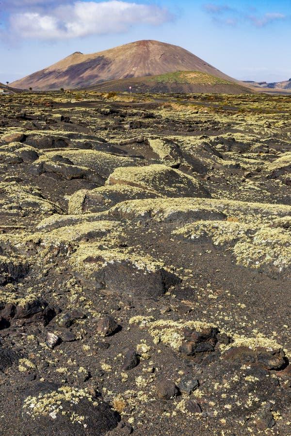 Paisagem vulcânica em Lanzarote Ilhas Can?rias foto de stock royalty free
