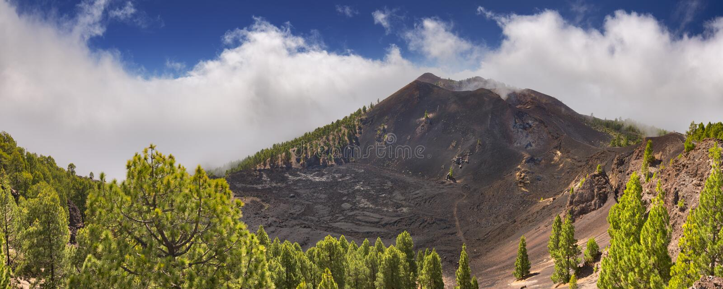 Paisagem vulcânica no La Palma imagem de stock
