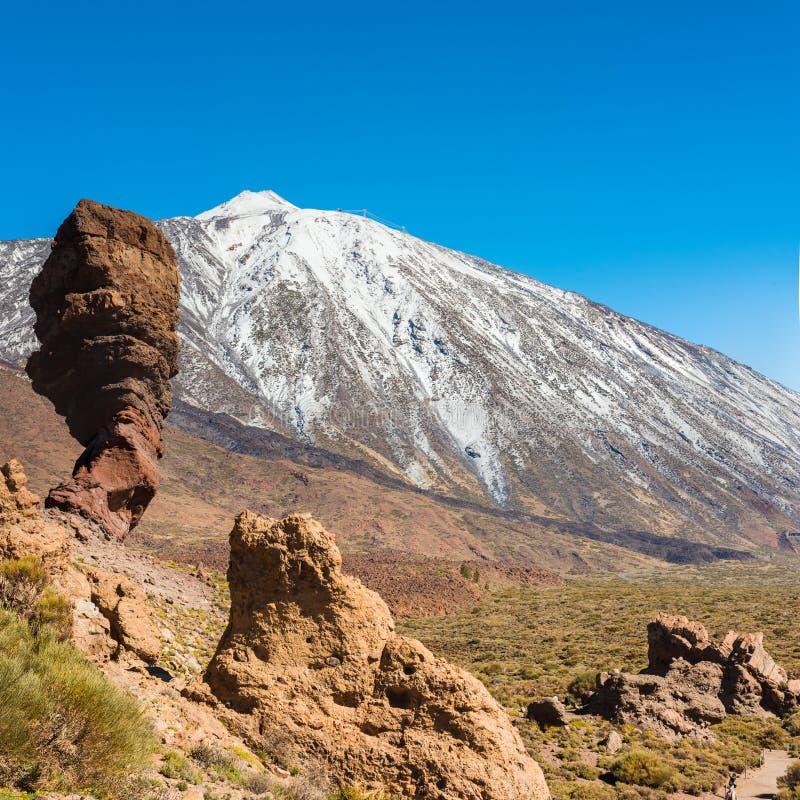 Paisagem vulcânica, Teide, Tenerife imagens de stock royalty free