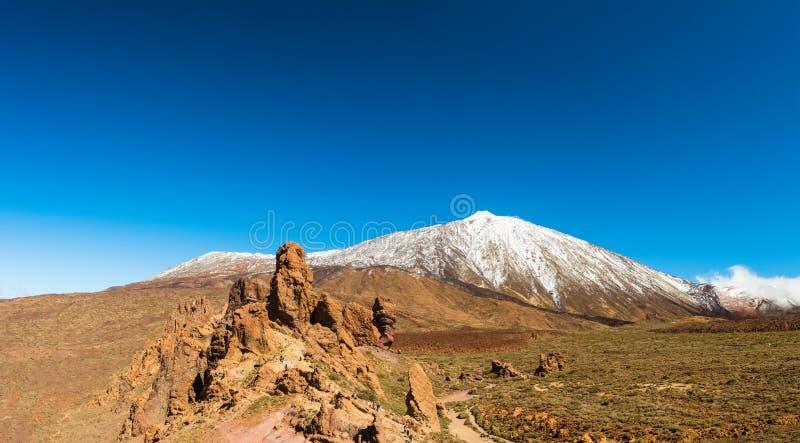 Paisagem vulcânica, Teide, Tenerife foto de stock