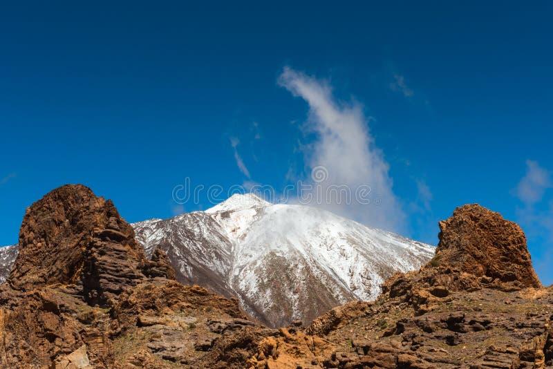Paisagem vulcânica, Teide, Tenerife imagens de stock