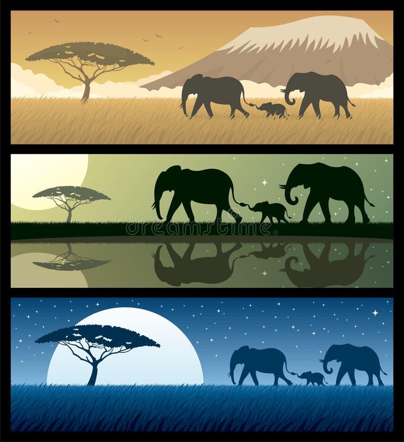 Paisagens 2 de África ilustração do vetor