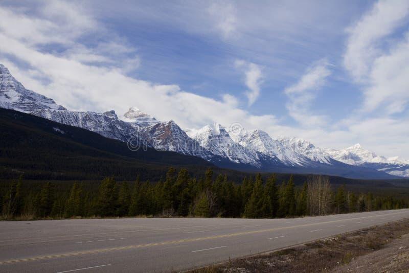 Paisagens cênicos em Jasper National Park, Alberta, Canadá fotografia de stock