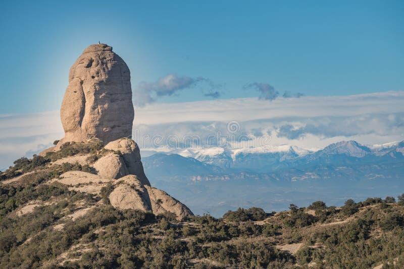 Paisagens da montanha, Monserrate, Catalonia fotografia de stock