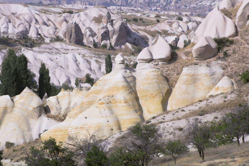 Paisagens da rocha de Cappadocia imagens de stock royalty free