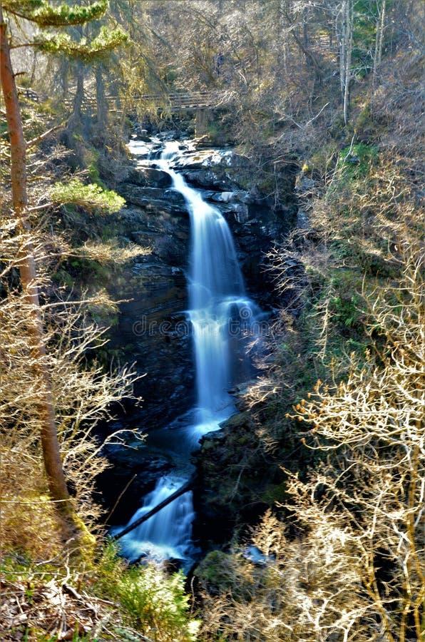 Paisagens de Escócia - o Birks de Aberfeldy fotografia de stock royalty free