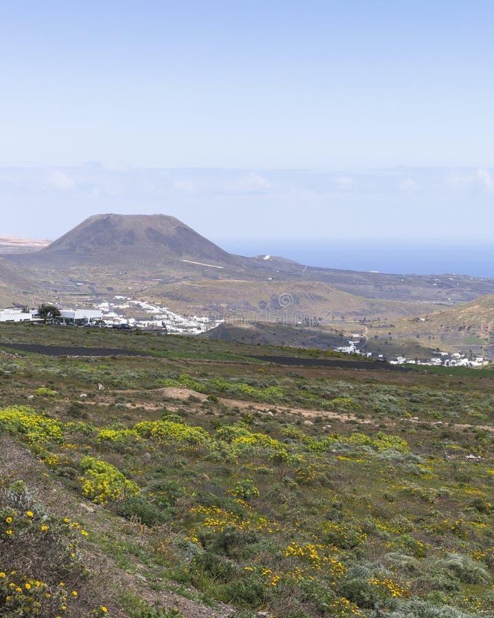 Paisagens de Lanzarote imagem de stock royalty free