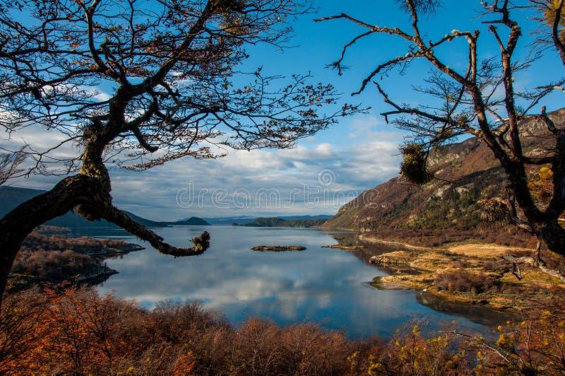 Paisagens de Tierra del Fuego, Argentina sul imagens de stock royalty free