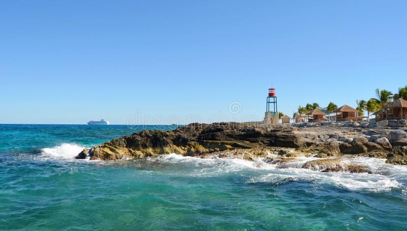 Paisagens do Cay dos cocos, paisagens do Bahamas foto de stock royalty free