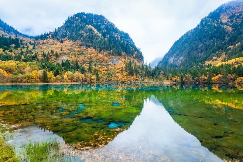 Paisagens do outono do conto de fadas fotos de stock