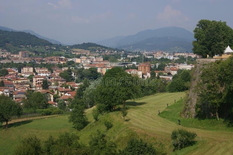 Paisagens em Bergamo fotografia de stock royalty free