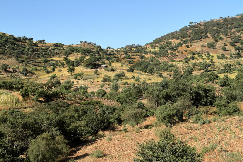 Paisagens na região do Amhara de Etiópia imagens de stock