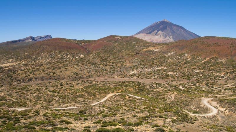 Paisaje árido en Tenerife imagen de archivo libre de regalías
