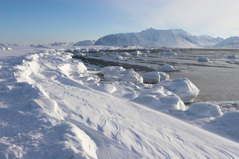 Paisaje ártico del invierno fotografía de archivo libre de regalías