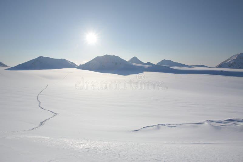 Paisaje ártico del invierno del glaciar fotografía de archivo libre de regalías