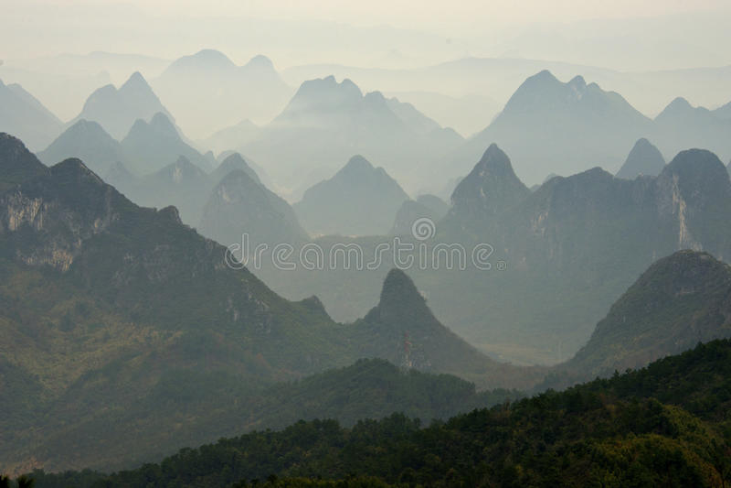 Paisaje 1 de Guilin foto de archivo