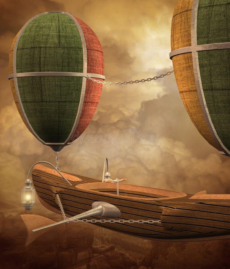 Paisaje 2 de Steampunk ilustración del vector