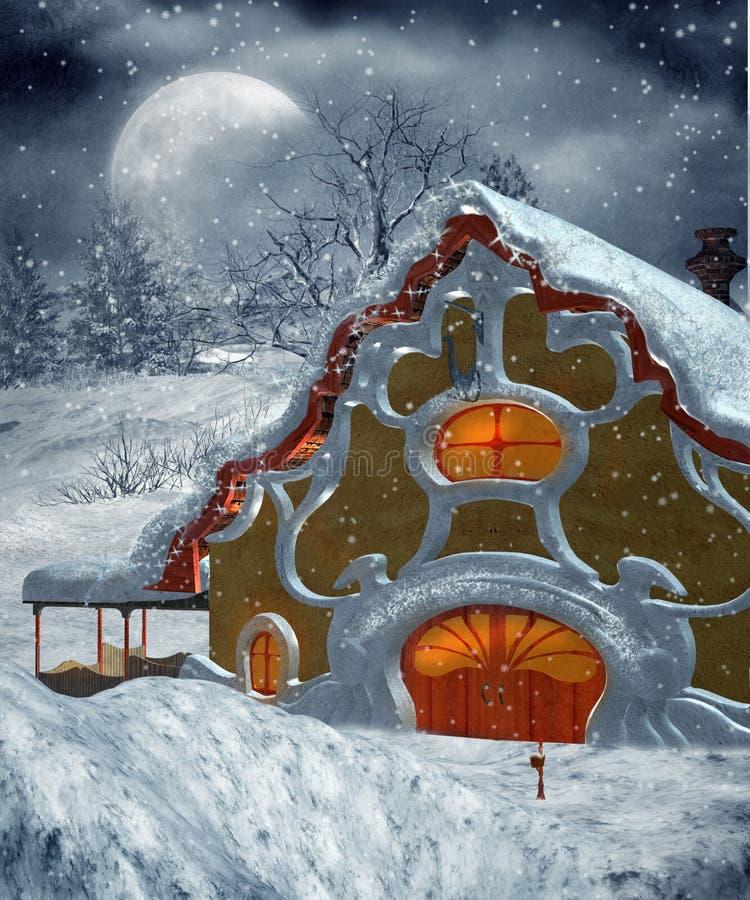 Paisaje 23 del invierno stock de ilustración