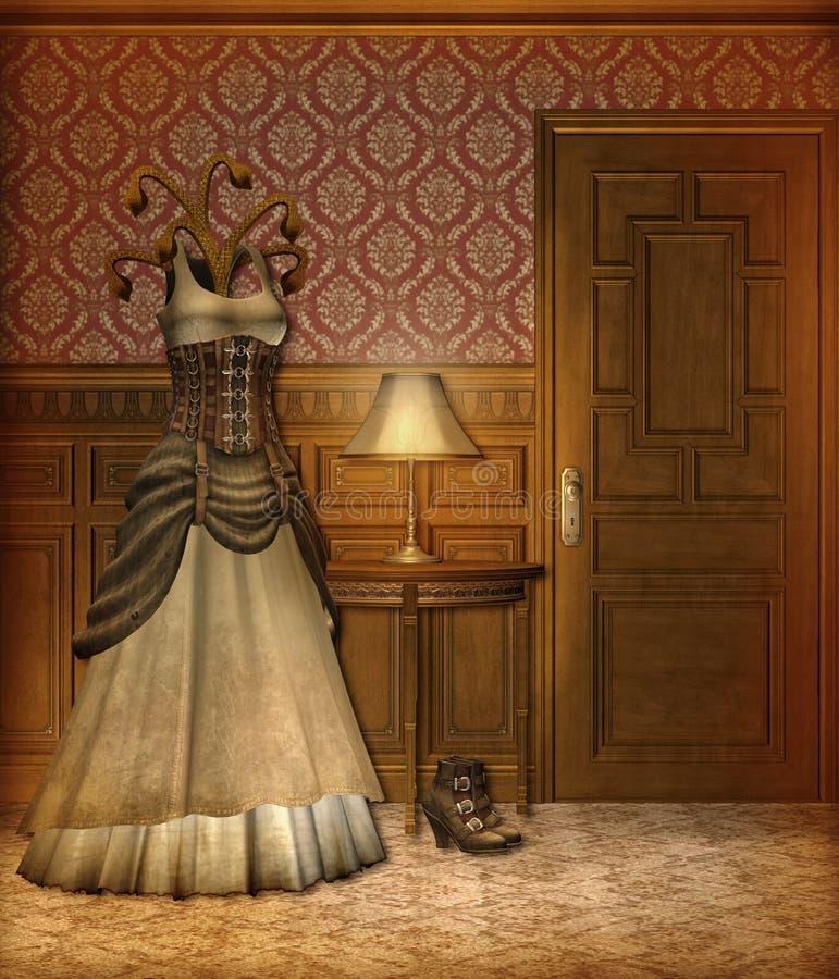Paisaje 5 de Steampunk stock de ilustración