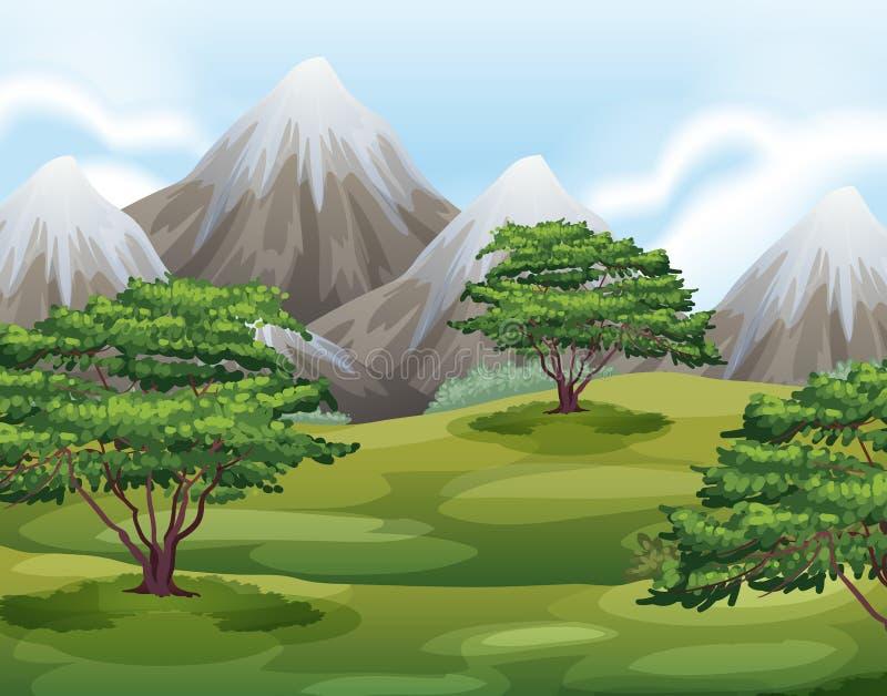 paisaje stock de ilustración