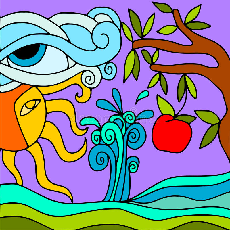 Paisaje abstracto libre illustration