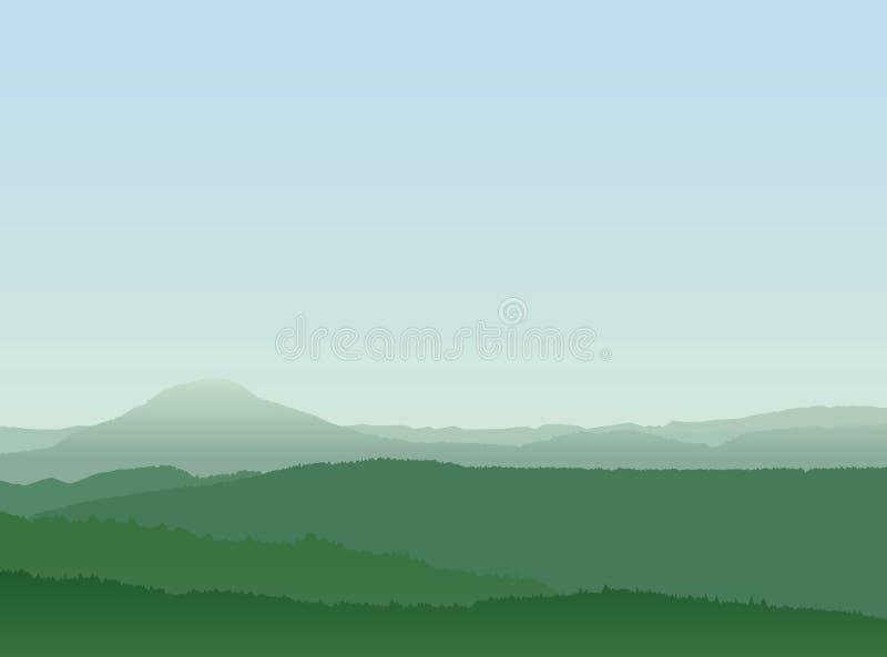 Paisaje abstracto de la montaña libre illustration
