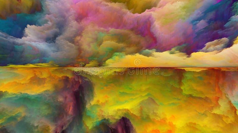 Paisaje abstracto pintado stock de ilustración