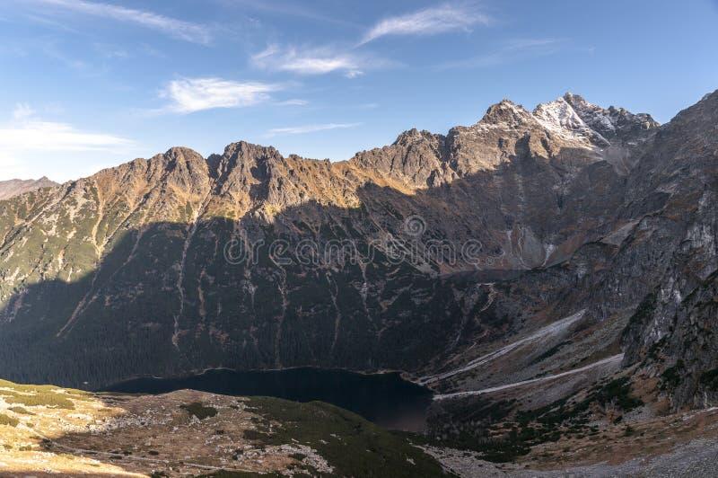 Paisaje alpino de montañas Altos tatras polonia fotos de archivo libres de regalías