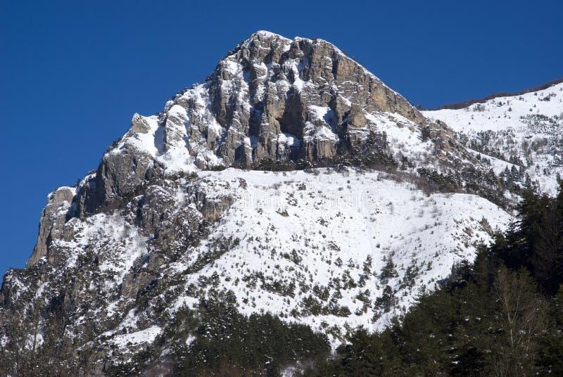 Paisaje alpino del invierno fotografía de archivo libre de regalías