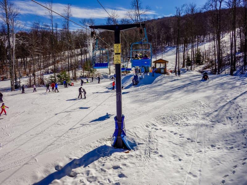 Paisaje alrededor de la estación de esquí Virginia Occidental del timberline fotos de archivo