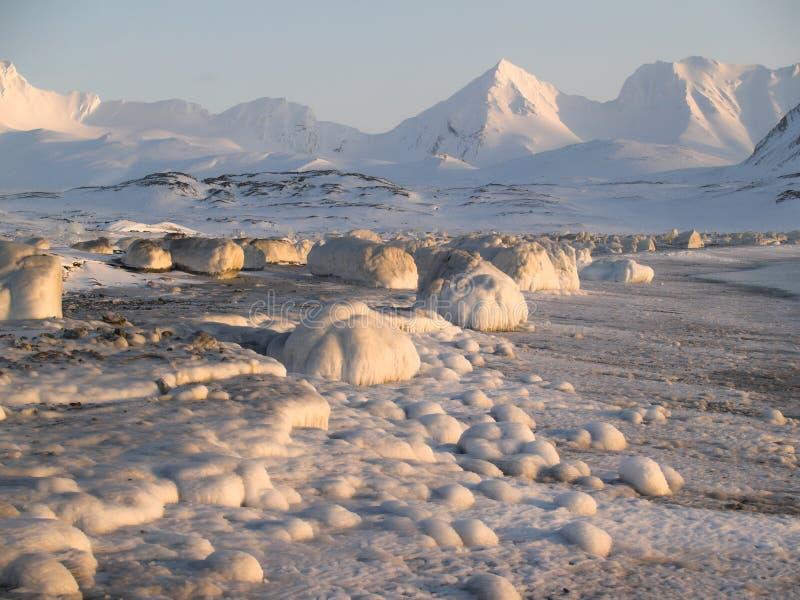 Paisaje antártico del invierno imágenes de archivo libres de regalías