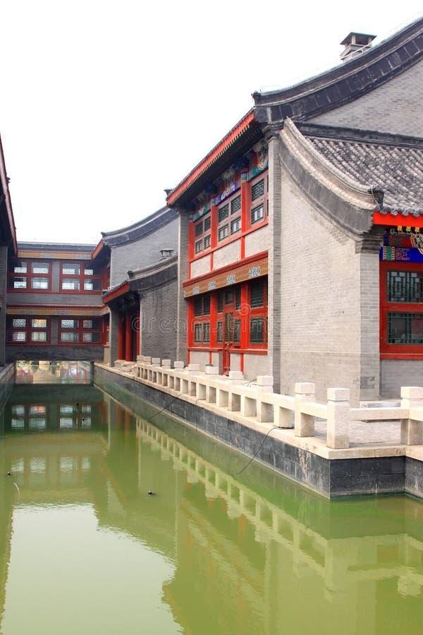 Paisaje arquitectónico tradicional chino fotografía de archivo libre de regalías
