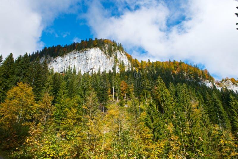Paisaje austríaco del otoño fotografía de archivo