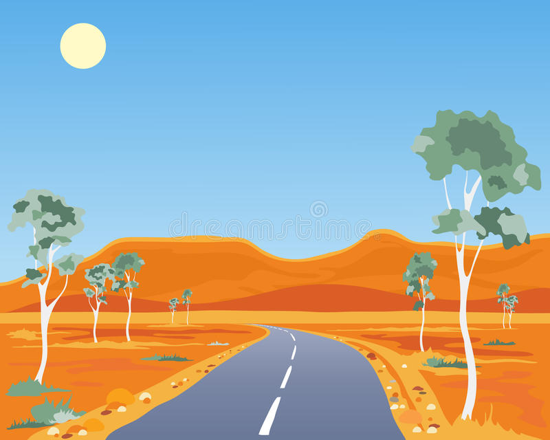 Paisaje australiano ilustración del vector