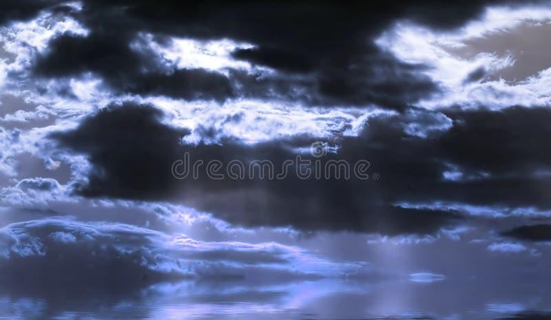 Paisaje azul ilustración del vector