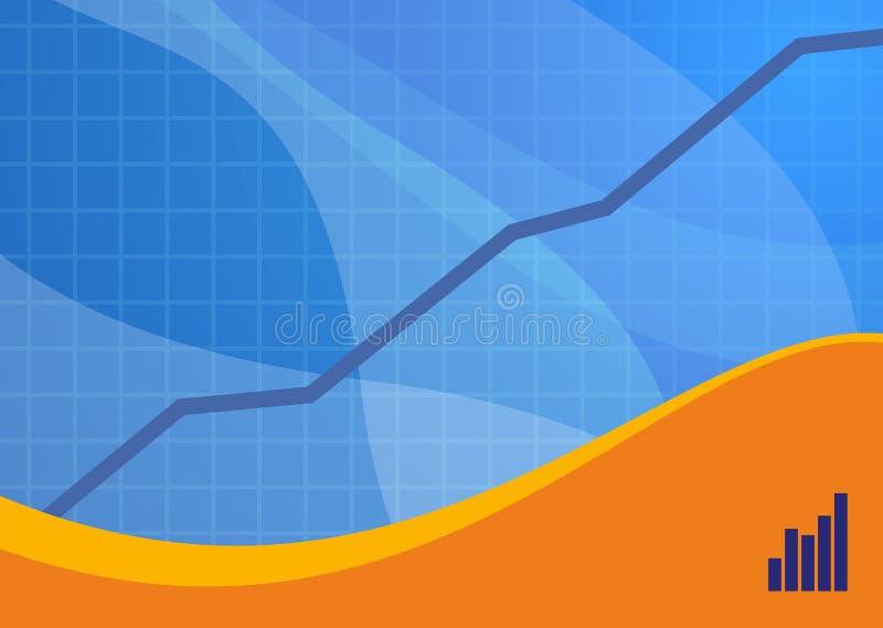Paisaje azul del fondo de las ventas ilustración del vector