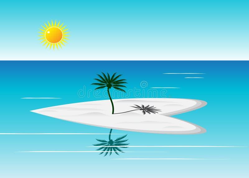 Paisaje azul del verano libre illustration