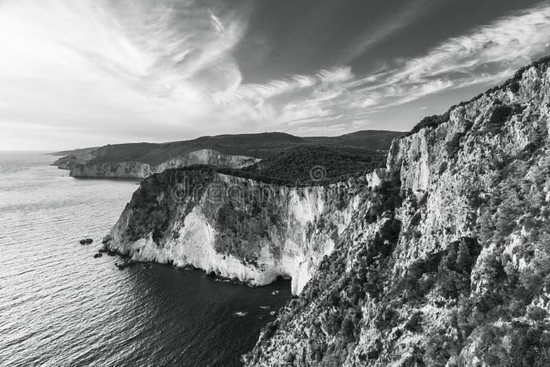 Paisaje blanco y negro del cabo Keri fotos de archivo