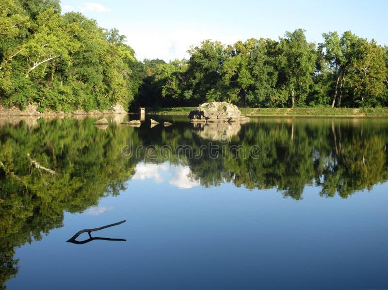 Paisaje bonito de la tarde en Widewater en el canal de C&O fotografía de archivo libre de regalías