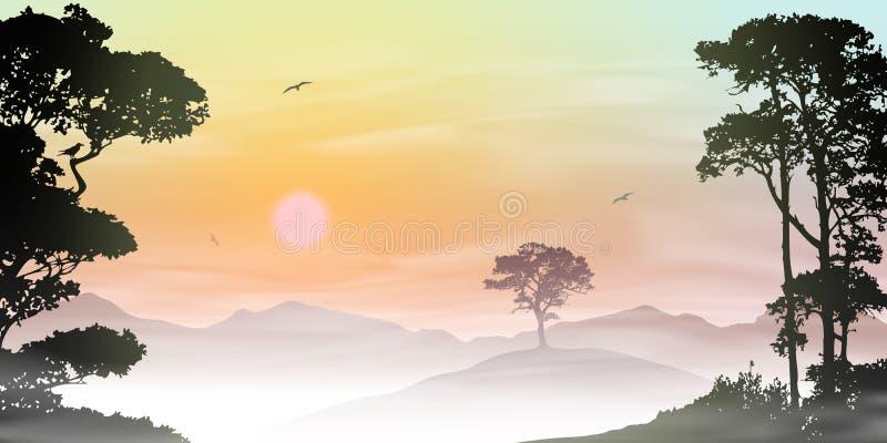 Paisaje brumoso libre illustration