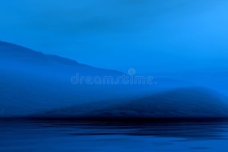 Paisaje brumoso de la noche stock de ilustración