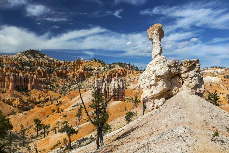 Paisaje Bryce Canyon Hiking Utah del desierto de las malas sombras de la roca imagen de archivo libre de regalías