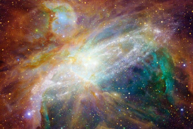 Paisaje cósmico, papel pintado impresionante de la ciencia ficción ilustración del vector