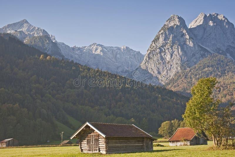 Paisaje cerca de Garmisch foto de archivo libre de regalías