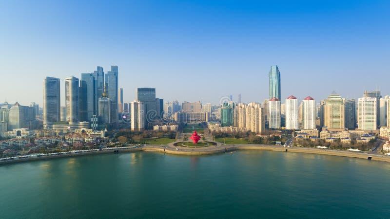 Paisaje China de la costa de Qingdao imágenes de archivo libres de regalías
