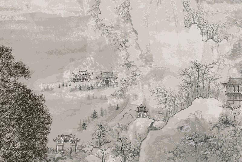 Paisaje chino libre illustration